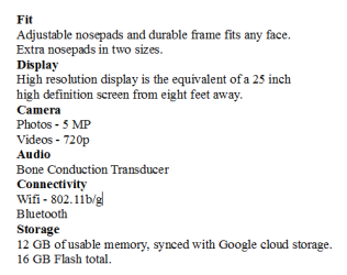 Google Tech Spec.