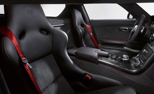 Interior of SLS AMG BLACK series